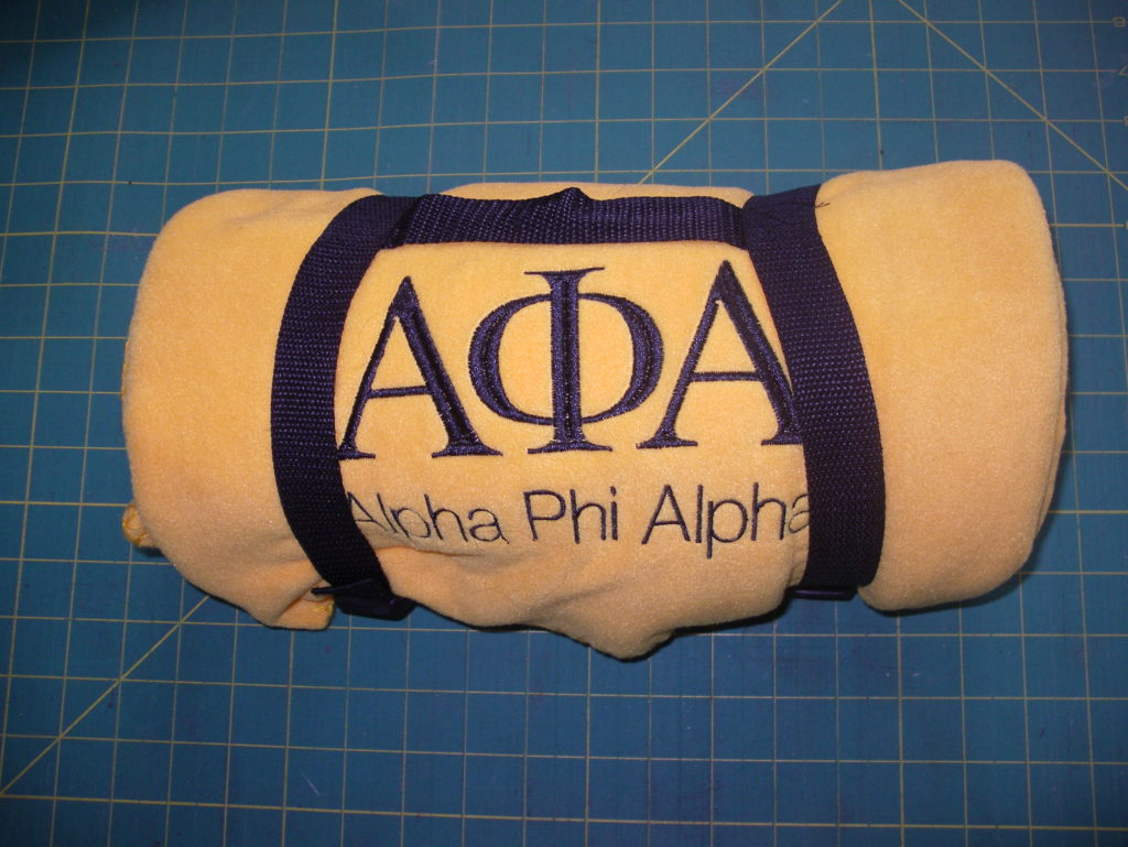 Alpha Phi Alpha Travel Blanket with Carrying Strap